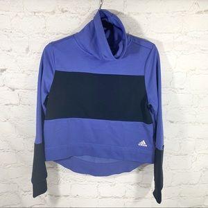 NWT Adidas color block turtleneck sweatshirt